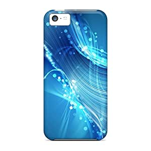 Cute Appearance Covers/Myk7135NLVr Abstract Blue Swirls Cases For Iphone 5c