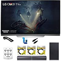 LG OLED65E7P - 65 E7 OLED 4K HDR Smart TV w/ Sound Bar Bundle Includes, 4.1ch Wi-Fi Sound Bar w Wireless Subwoofer + 2x 6ft HDMI Cable + Universal Screen Cleaner + 6 Outlet Wall Tap w/ 2 USB Ports
