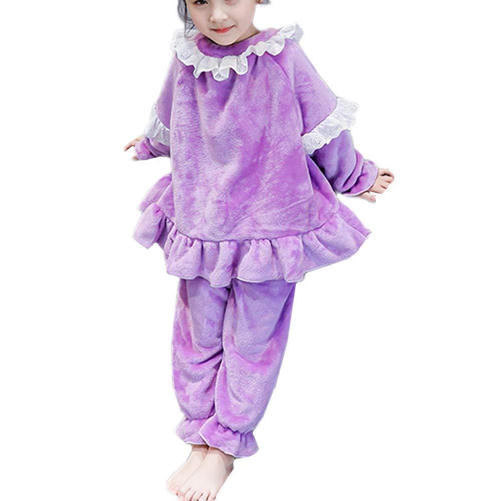 752460b63435d (ケヤカ) Keyaka 子供 パジャマ 女の子 フランネル モコモコ ふわふわ 部屋着 ルームウェア 寝間着 全