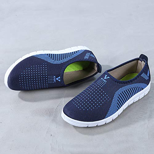 VonVonCo Men's Casual Slip-On Sport Shoes Sneaker Comfortable Footwears Loafers Shoes Blue by VonVonCo (Image #5)