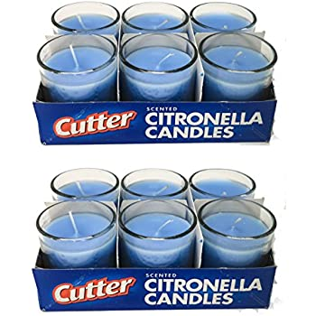Amazon.com : Cutter Citronella Candles Set (12-Pack ...
