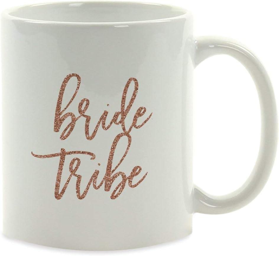 egalo de la taza de café de la fiesta de bodas, purpurina de imitación de oro rosa, tribu de la novia, paquete de 1, decoración de la despedida de soltera de la despedida de soltera del compromiso Ide