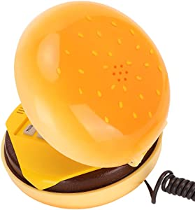 Tonysa Fixed line Phone, New emulational Hamburger Phone at Home, Hotel, Muti-Function Such as Voice Frequency Dialing, Flash, redialing The Last Number, etc.