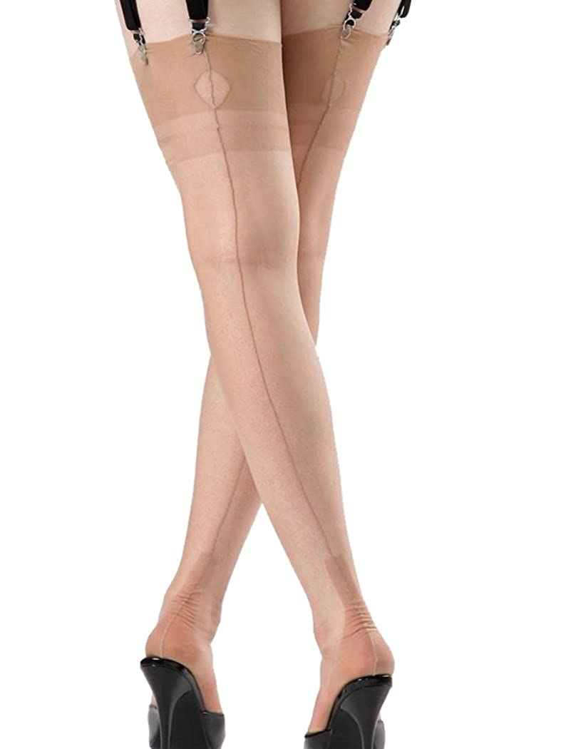 1920s Style Stockings & Socks Nancies Womens Fullyed Cuban Heel Stockings $35.00 AT vintagedancer.com