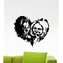 Child's Play Chucky Wall Decal Good Guy Heart Cartoon Movie Maniac Horror Poster Hallowee