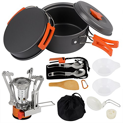 Camping Cookware Set Hiking back...