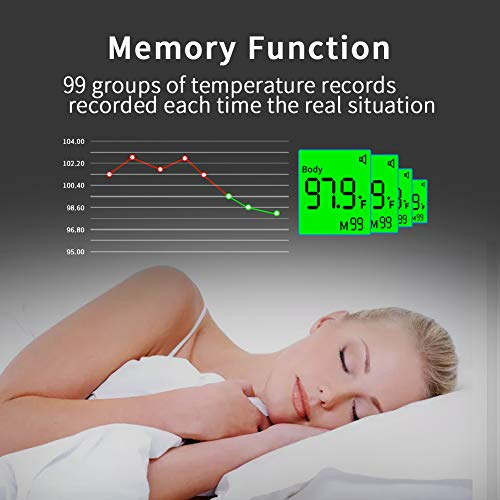 519kiPXobdL Amerzam Forehead Baby Thermometer, No-Contact Infrared Digital Thermometer Body and Surface Thermometer 2 in 1 Dual Mode for for Baby, Kids and Adults    Product Description
