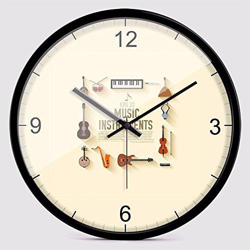 オフィス用寝室用リビングルーム用静かな壁時計、シルバー B07DQBS8F9 銀 銀