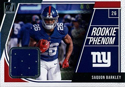 2018 Donruss Rookie Phenom Jerseys #6 Saquon Barkley MEM NY Giants Football NFL from Donruss