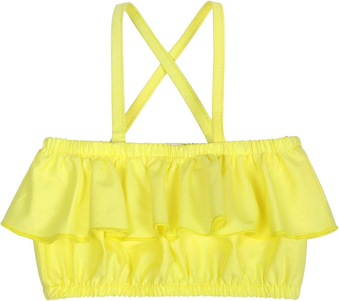 Jurebecia Toddler Kids Baby Girl Floral Outfit Lace Halter Tank Top Boho Skirt Dress Set Summer Clothes