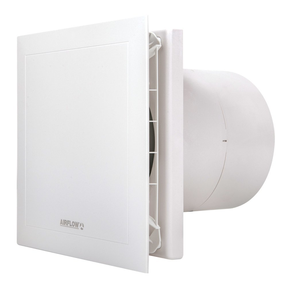 Preempció n Quietair 90000454  pared extractor ventilador silencioso, 10  W, 230  V, color blanco, 150  mm) 10 W 230 V 150 mm) Airflow