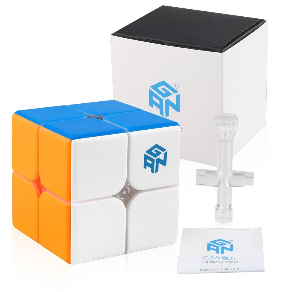 Coogam GAN 249 V2 2x2 Speed Cube Gans249 2x2x2 Gan249 Puzzle Toy Stickerless by Coogam
