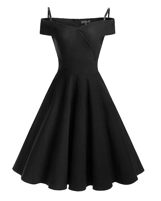 Mujer Vintage Vestido Años 50 Impresión Vestidos De Fiesta A-Line Retro Rockabilly Dress: Amazon.es: Ropa y accesorios