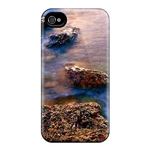 Durable Case For The Iphone 4/4s- Eco-friendly Retail Packaging(rocky Seashore Scotland U K) by runtopwellby Maris's Diary