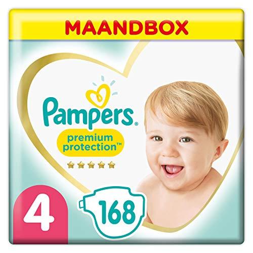 Pampers Premium Protection Luiers Maat 4 (9kg-14kg), 168 luiers