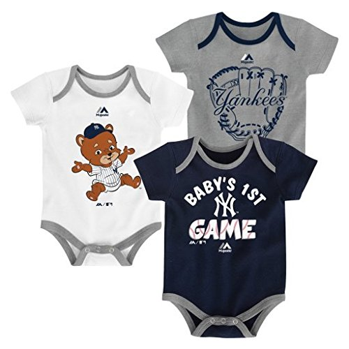- Outerstuff New York Yankees Small Fan Baby/Infant 3 Piece Creeper Set 24 Months