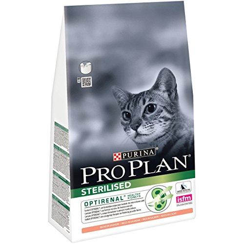 Purina Pro Plan Comida Seco para Gato Esterilizado con Optirenal, Sabor Salmón - 1.5 Kg: Amazon.es: Productos para mascotas