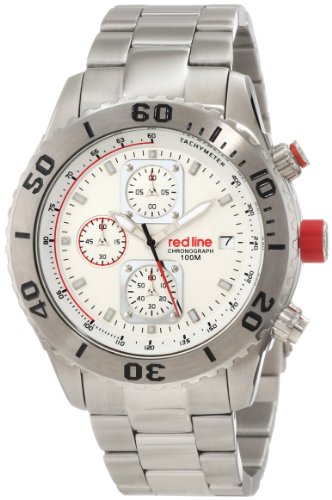 red line Men's RL-50041-22 Simulator Chronograph White Dial Watch (Red Line Chronograph compare prices)