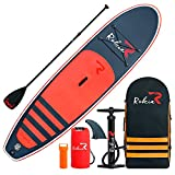 Rokia R 10'6'' Inflatable SUP Stand Up Paddle Board (6'' Thick) iSUP for Fitness, Yoga, Fishing on Flat Water, Orange
