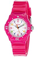 INWET Girls Wrist Watch Two Display Modes,Colourful Numbers,Boys Girls Children Watch Rose Red