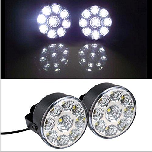 X Voiture De Pcs 2 Led Diurne 9 Ampoule Lampe E2W9HYeDI