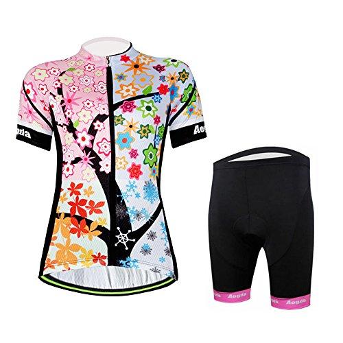 Aogda Cycling Jersey Women Bike Shirts Biking Bib Pants 2...