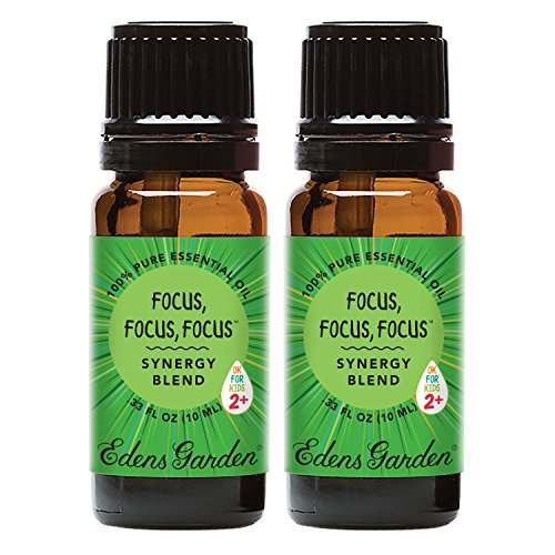 Edens Garden Focus, Focus, Focus Value Pack Synergy Blend 100% Pure Undiluted Therapeutic Grade GC/MS Certified Essential Oil by Edens Garden