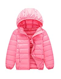 Happy Cherry Kids Winter Warm Puffer Packable Down Jacket Coat for Boys and Girls - 160cm