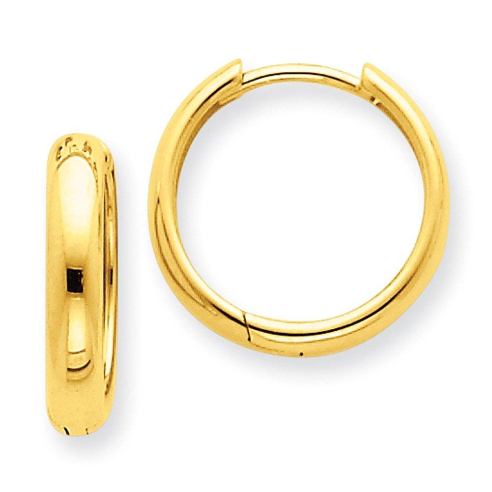 Lex /& Lu 14k Yellow Gold Hinged Hoop Earrings LAL90344
