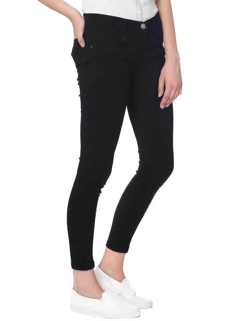 31ec250136a49 Broadstar Women Denim Black Jeans: Amazon.in: Clothing & Accessories