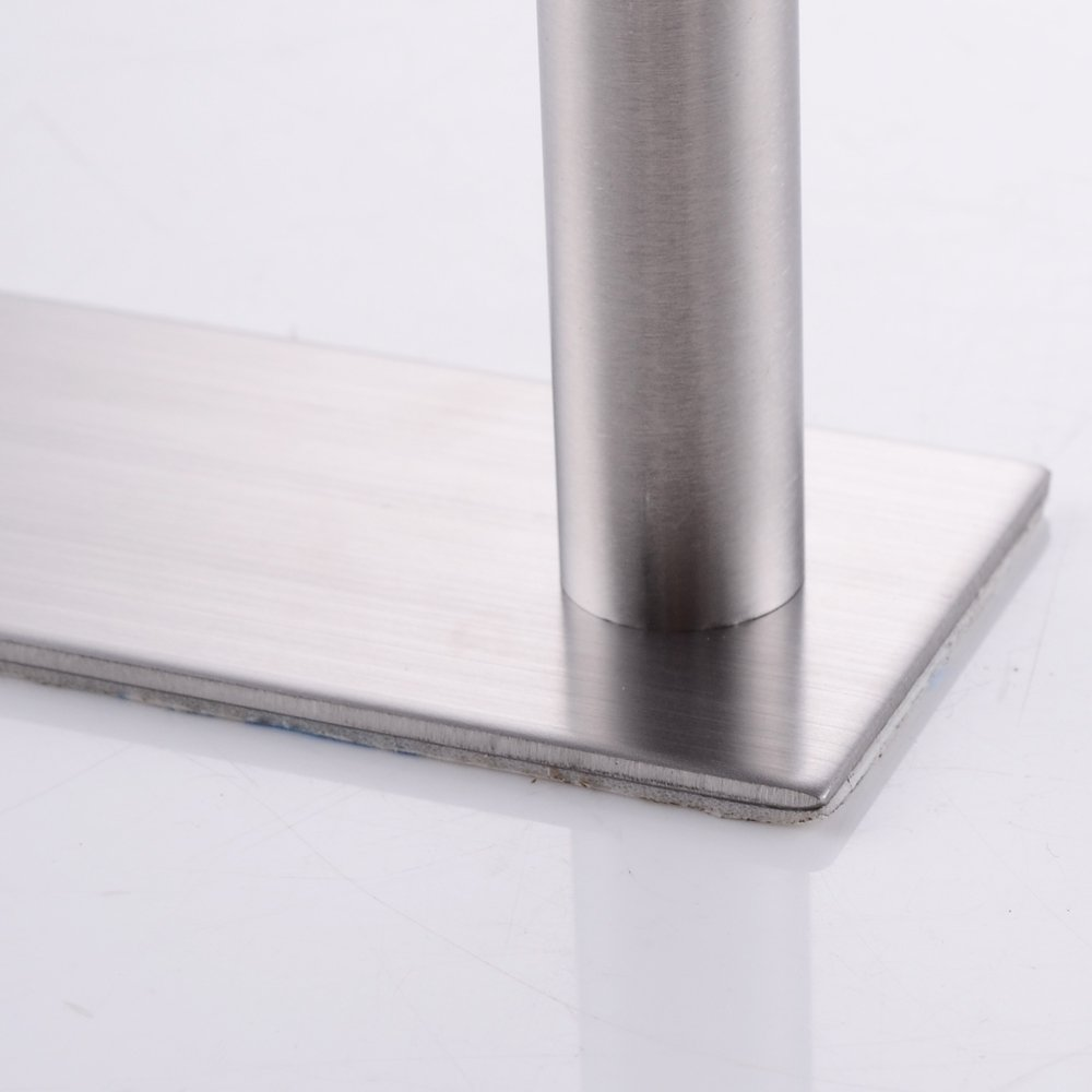 KES Self Adhesive 30-Inch Pan & Pot Rack with 10 Hooks SUS 304 Stainless Steel Sticky Kitchen Storage Organizer Bar Shelf Utensil Stick on Hanger Rustproof Wall Mount, Brushed Finish, KUR202S70-2 by Kes (Image #5)