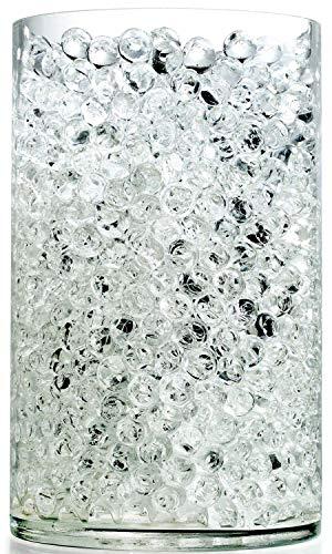 NOTCHIS Upgraded 20,000 Vase Fillers Clear Big Water Beads, Floral Beads Gel Water Bead, Clear Water Pearls Vase Filler Bead for Wedding Centerpiece Decoration, Floral Decoration, Plants