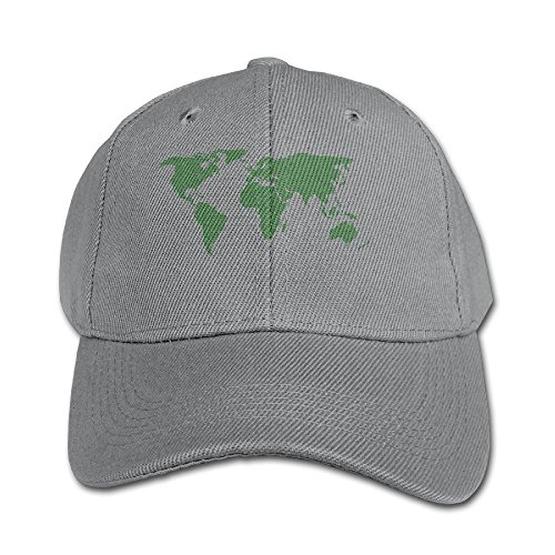 Sincerity-First Children Girls Boys World Map Green Flat Bri