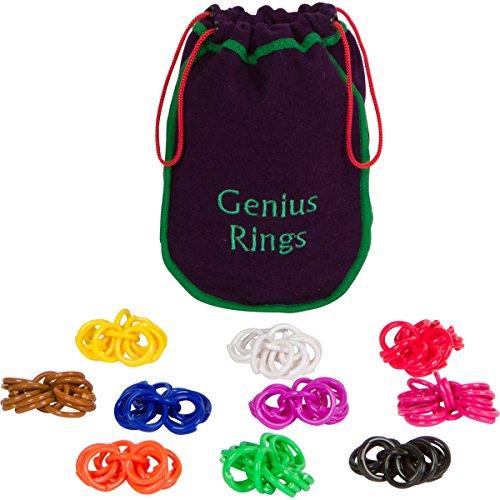 Amozan Toys Prodigy Math Game : Genius rings chinese jacks toy educational math counting