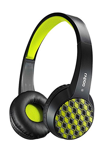 Beteran Rapoo S100 Bluetooth V4.1+EDR Wireless Dynamic Noise Cancelling Super Deep Bass Multitfunction Portable Stereo HD Voice Studio DJ HIFI Wired/Wireless Headset Headphone Earphone with Micphone for iPhone Samsung HTC LG Blackberry iPad iPod Music Player PC Computer Macbook (Green)