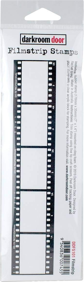 Darkroom Door Filmstrip Cling Stamp 1.4X7-Filmstrip