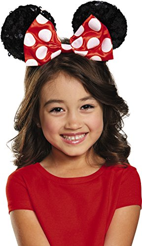 Sequin Minnie Mouse Ears (Disguise Costumes Red Minnie Sequin Ears, Girls)