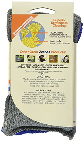 Large Product Image of Zwipes Microfiber Dish & Kitchen Sponges | Super Scrub |Multipurpose | 2 Count