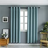 Mangata Casa Blackout Curtains With Night Sky Twinkle Star kids,Thermal Insulated Grommet Bedroom Drapes 240gsm(Turquoise,52x63in) For Sale
