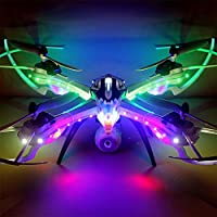 OOFAY Drone with Camera X8 Colorful Glare Drop 2.4G Large Remote Control Aircraft Quadrocopter