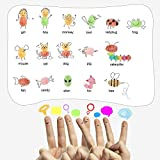 Washable Ink Pads, Finger Stamp Pads for Kids, 12