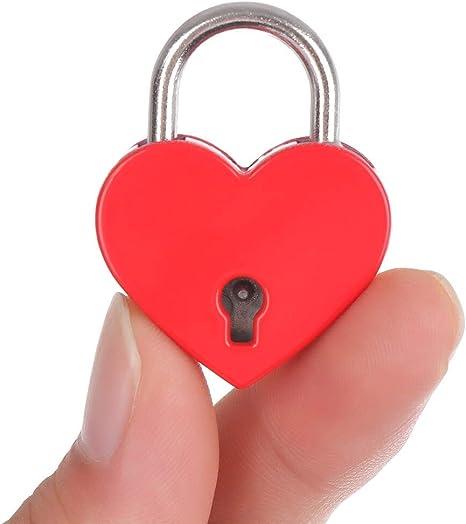 En forme de cœur serrure Mini Style Antique Cadenas Sécurité Outil Diary Protecteur