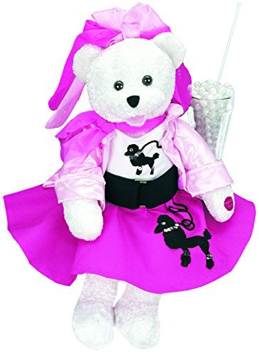 Chantilly Lane Olivia Bear with Poodle Skirt Sings You're The One That I Want Plush 19 [並行輸入品]   B07HLHQFYS
