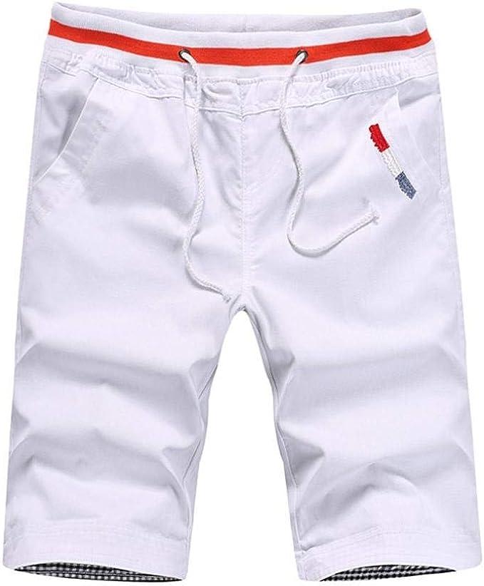 Pantalón Corto De Cortos para Algodón Hombre Pantalones Bermudas Mode De Marca Pantalón Corto Pantalones Casuales Pantalones Cortos De Corte Slim De Color Sólido para Niños: Amazon.es: Ropa y accesorios