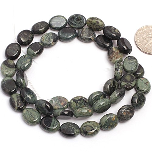 Joe Foreman Kambaba Jasper Beads for Jewelry Making Natural Gemstone Semi Precious 8x10mm Oval 15
