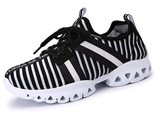 IIIIS-R Zapatillas de deporte de los Planos Atléticas Ocasionales de La Malla Respirable del Verano de las negro