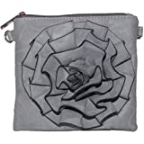 Mellow World Myrtle Flower Cross-body Handbag (Gray), Bags Central