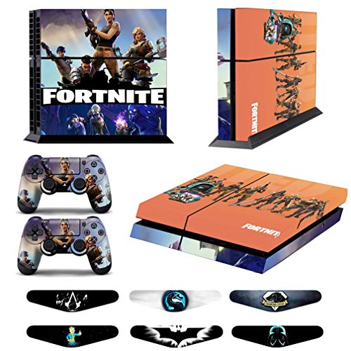 Skins for PS4 Controller - Decals for Playstation 4 Games - Stickers Cover for PS4 Console Sony Playstation Four Accessories PS4 Faceplate with Dualshock 5 Two Controllers Skin - Fornite from WSD