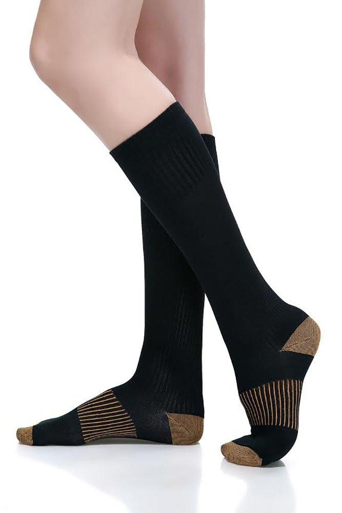 ComfortGear Performance Enhancing Therapeutic Full Length Compression Socks, 10-20 mmHg, Durable Design, Graduated Compression Action, Premium Quality (7-9 Men's/8-10 Women's) by ComfortGear B016EGN0G4