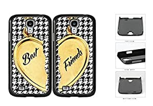 Heart Locket Houndstooth Best Friends Set Hard Plastic Snap On Cell Phone Case Samsung Galaxy S4 SIV I9500